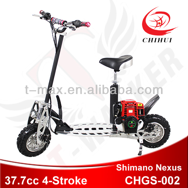 4 stroke gasoline scooter with Shimano Nexus 3-gears shift