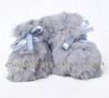 CX-SHOES-07A Soft Baby Wear Genuine Rabbit Fur Baby Shoes