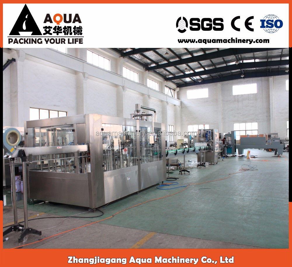Mineral water making machinery carbonated soft drinks production line for sale