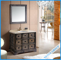 Traditional Bathroom Vanity Storage With Multi Drawers