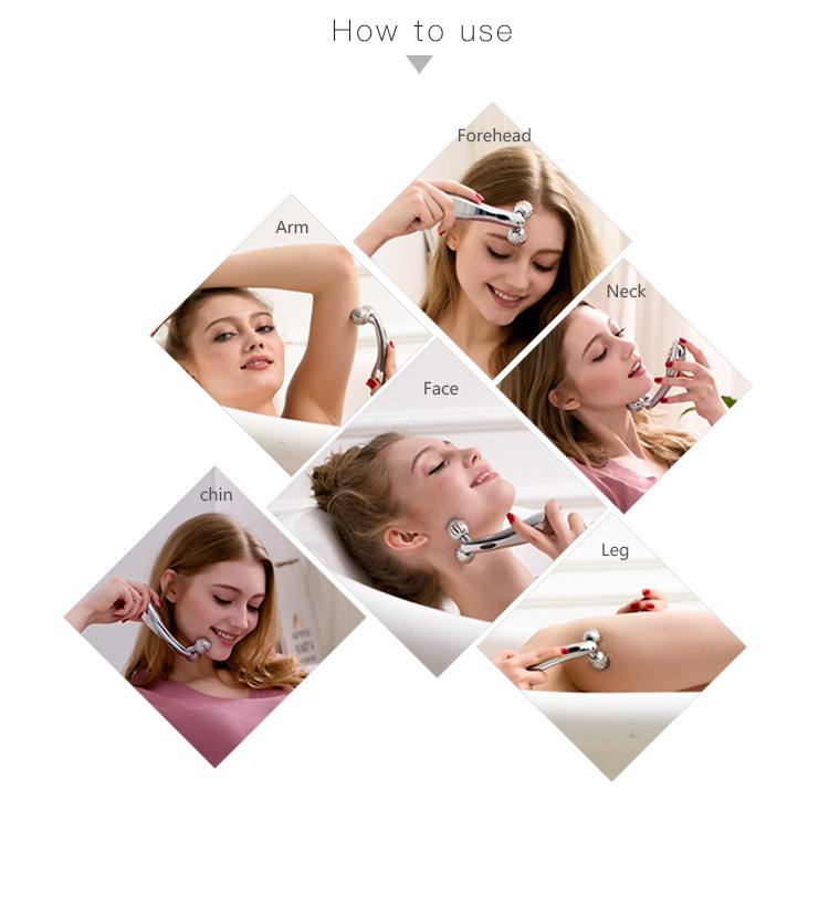 kakusan anti aging face roller handheld Y shaped face massage roller