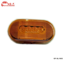 Oval Clearance Red LED Lamp 10 Diode Trailer Truck Side Marker Light