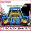 red inflatable slide,big clown slide,huge inflatable slide