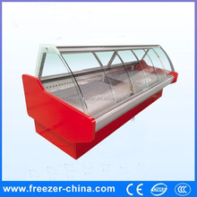 Fresh Meat Display Open Refrigerated Counter Top Opening Cooler