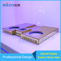 Clear lignted Acrylic pedestal for cosmetics display