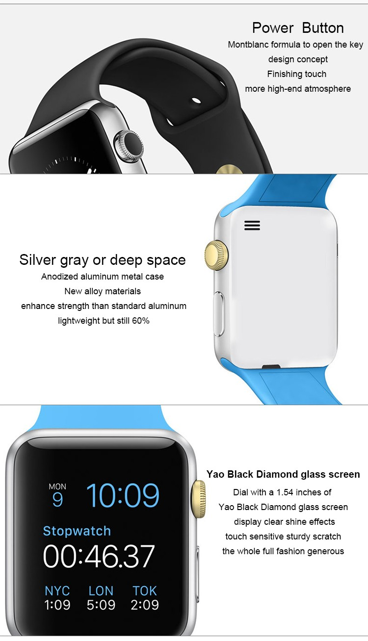 Alibaba express factory direct sales camera android smart watch sport