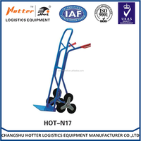 high quality convenient security save labour six wheel metal hand truck used for warehouse stair climbing trolley