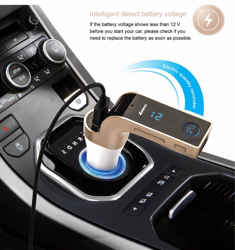 Hot Sales G7 Bluetooth car mp3 player FM Transmitter with Bluetooth Hands-free Car Kit .jpg