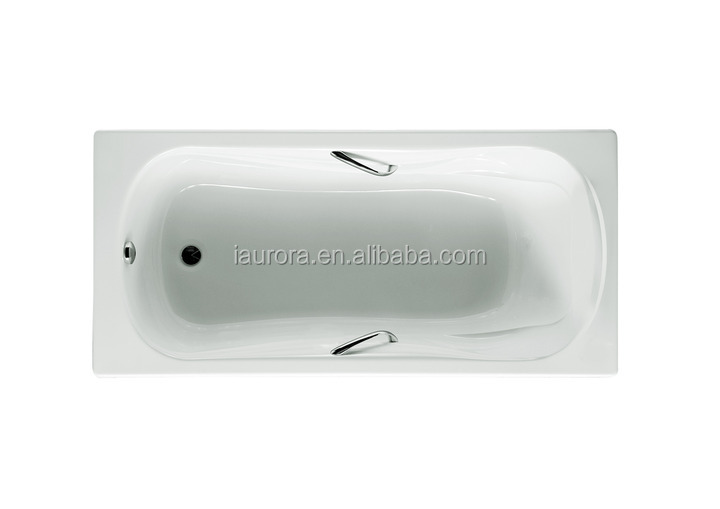 Square shaped built in bathtub big size with handle buy for Built in tub dimensions