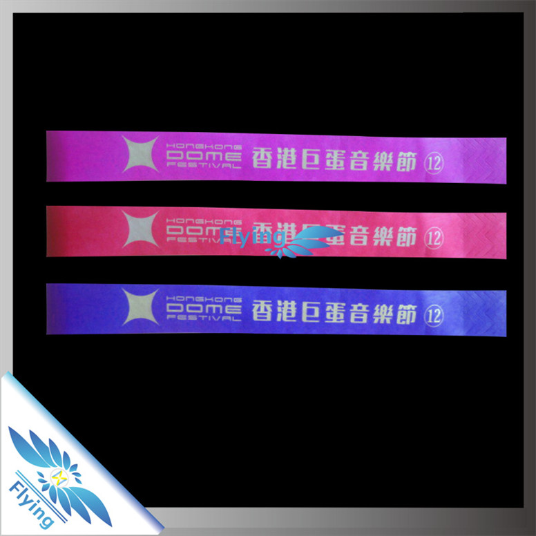 custom cheap printable waterproof tyvek paper Wristbands for event