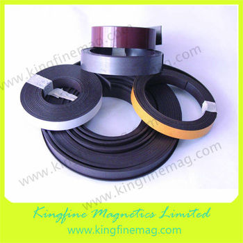 Flexible soft rubber magnetic strip with 3M adhesive