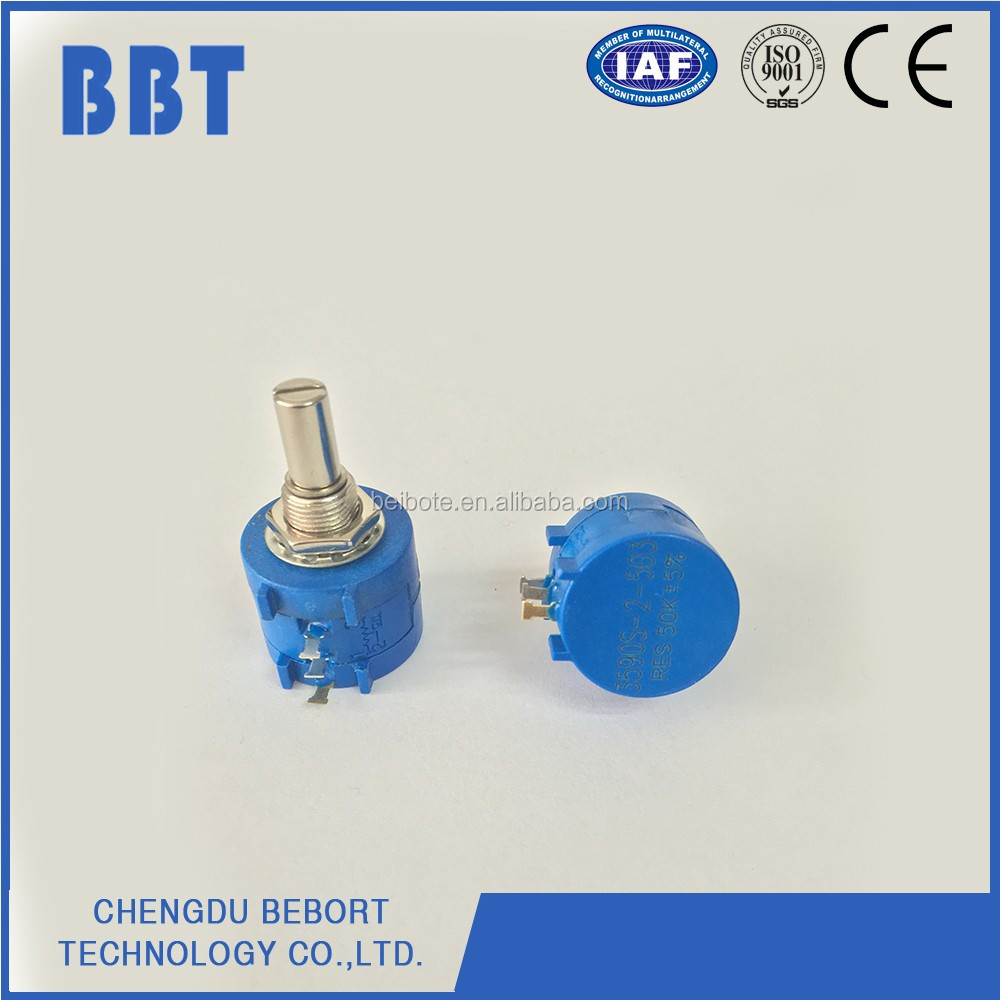 68S series 3590S multi-turn wirewound precision 360 degree endless precision rotary potentiometer with CE