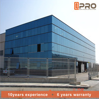 Waterproof exterior wall panels designs of house double wall glass frame