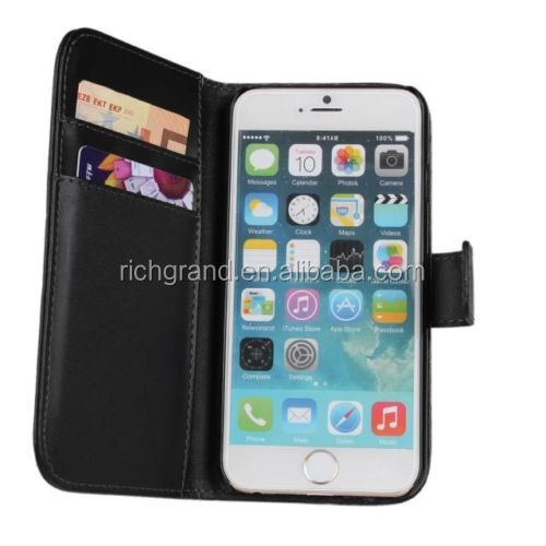 Leather slot wallet stand Case for iPod Touch 6th 5th Gen