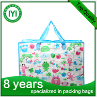 2016 fancy luxury printed PP woven shopping carry bag carrier bag with handle