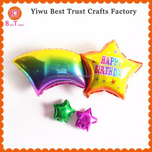 Wholesale Shooting Star And Rainbow Foil Balloon For Wedding Biirthday Party Decoration