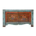 Asian antique hand paint lacquer sideboard furniture shoe cabinet for wholesale