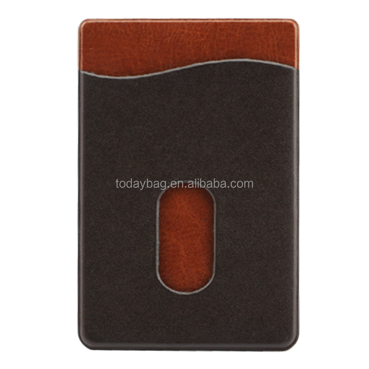 Leather Adhesive Cell Phone Wallet