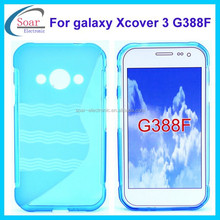 crystal clear S wave line tpu case for Samsung galaxy Xcover 3 G388F