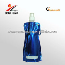 Blue Metallic Color Mineral Water Bottle Foldable Water Bottle