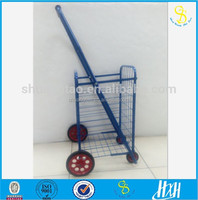 new deisgn mini folding shopping cart / mini folding shopping trolley , Telescopic handle folded luggage trolleys