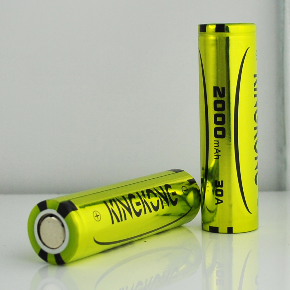 2000mAh 20A High rate 3.7V ICR 18650 Li-ion Batteries