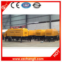 Diesel mobile concrete pump for Max. aggregate size 60-80mm