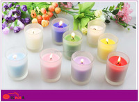 luxury scented candles frosted glass votive box candle jar in bulk