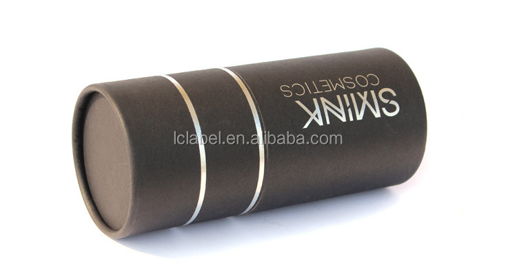 Biodegradable black cardboard tube cardboard paper tubes wrapping paper tube with silver foil logo