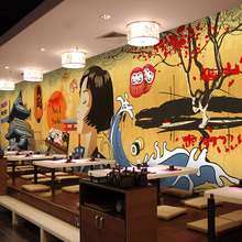 Japanese Sushi Restaurant Backdrop snack bar coffee house kitchen wallpaper mural