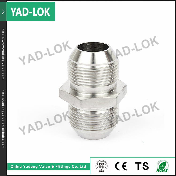 YAD-LOK CE ROHS GS Certified 1/4''-4'' Size Screw Stainless Steel Pipe Fittings Hex Nipple
