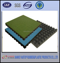 Bounce Back Rubber Floor Mat for Playground 500*500*45mm