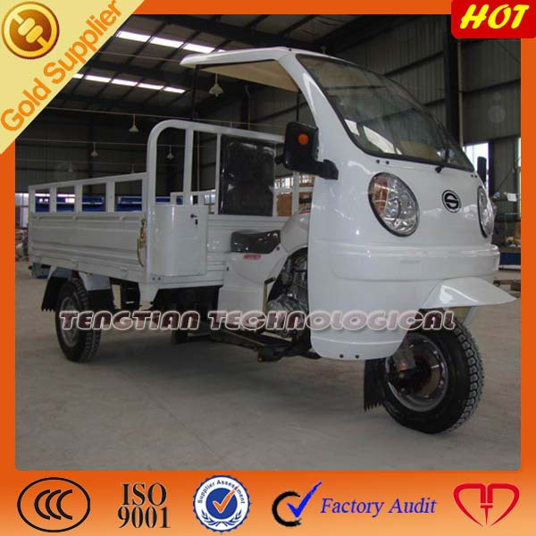 Tricycle cargo for three wheel on sale with 150cc ABS canopy / Half semi cabin & ABS caonpy tricycle on sale