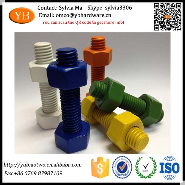 China Manufactured Colored Bolts with Nuts