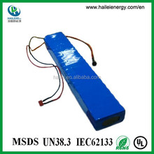 rechargeable lithium ion 10ah 36v electric bike battery