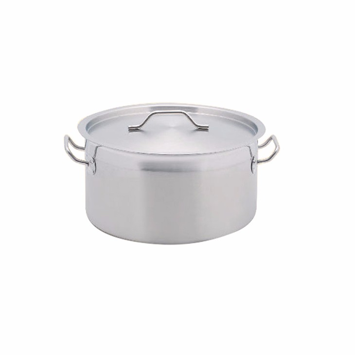MUK hot sale hotel restaurant professional stainless steel short body pot with thicken bottom
