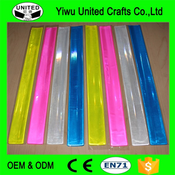 promotional PVC reflective slap band,slap wristband,how to make rubber slap bracelet