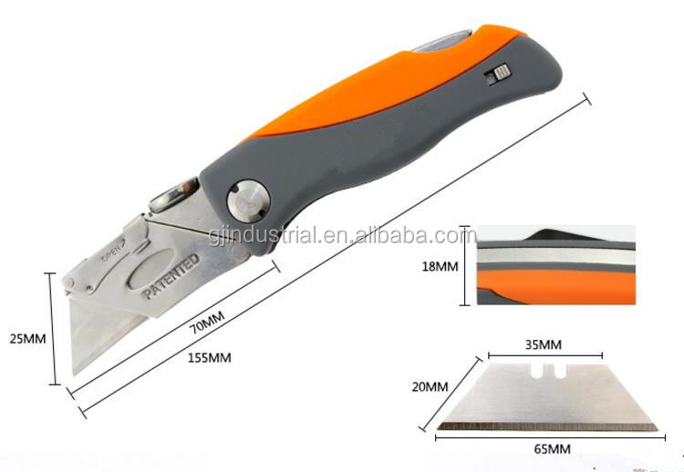 STAINLESS STEEL POCKET FOLDING KNIFE UTILITY HEAVY DUTY -knife