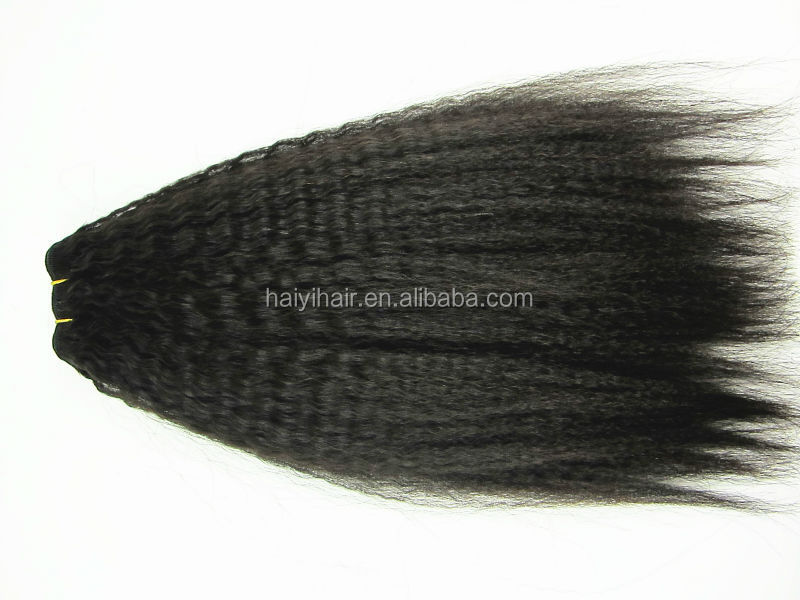 Thick Ends ! Popular Double Drawn Factory Cheap Kinky Hair Clip On Extensions