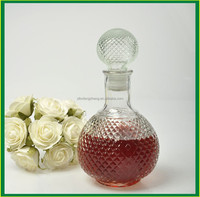 Elegant 1000ML Clear Glass Whiskey Bottle