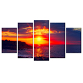 Sunset over the Sea HD Picture Giclee Print Beautiful Twilight Canvas Printing Decorative Canvas Painting for Home and Office