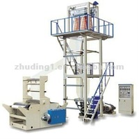 High speed HDPE/LDPE plastic film blowing extrusion machine