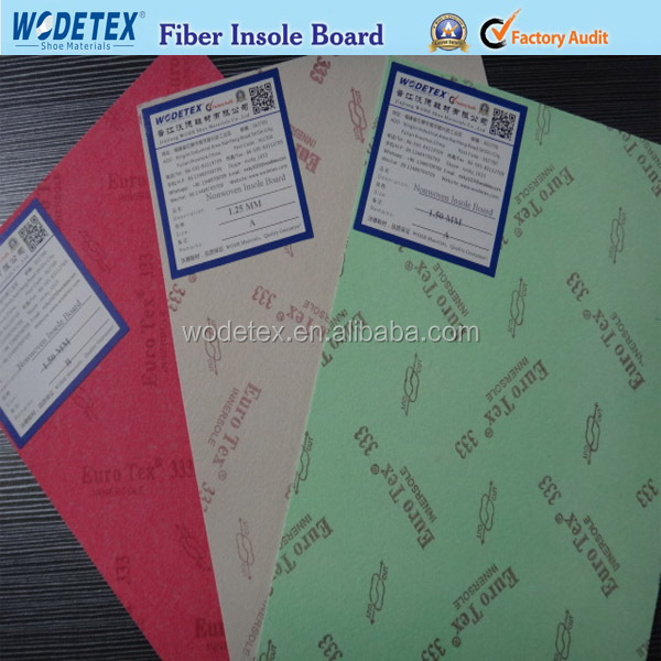 Material for shoe fiber insole board for midsole making