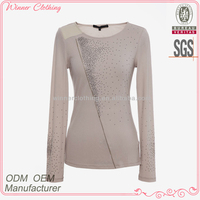 Up-to-date fashion new stylish zip embellished italian ladies clothes