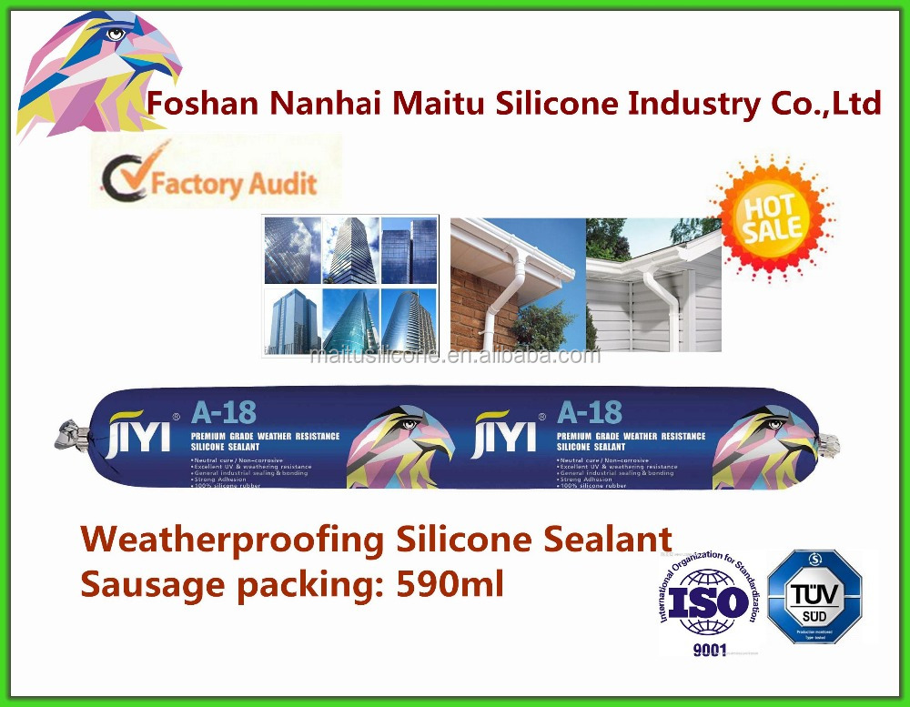 100% Weatherproof silicone sealant for aluminum skylight glass frame with competitive price