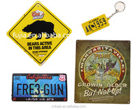 Wholesale Custom made decor keychain metal/wall sign,car license plate