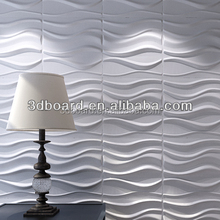 3d gypsum decorative wall panel/interior decoration material 3d wall panel bamboo