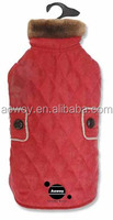 Best selling custom logo red elements derby quilted dog coat clothes pets product12