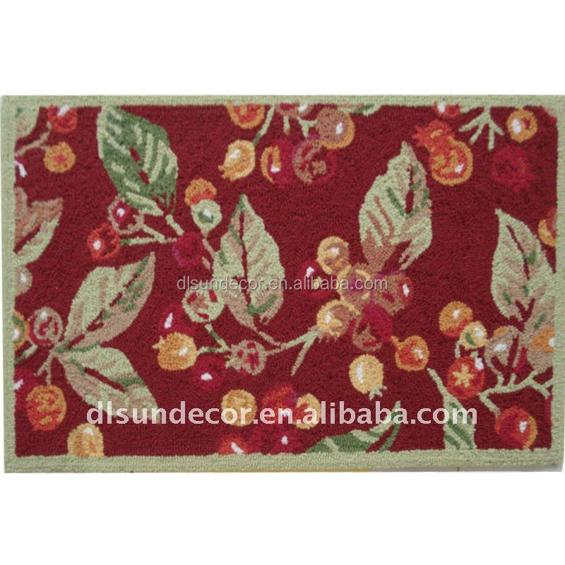 High quality polyester hand made handlooped rugs