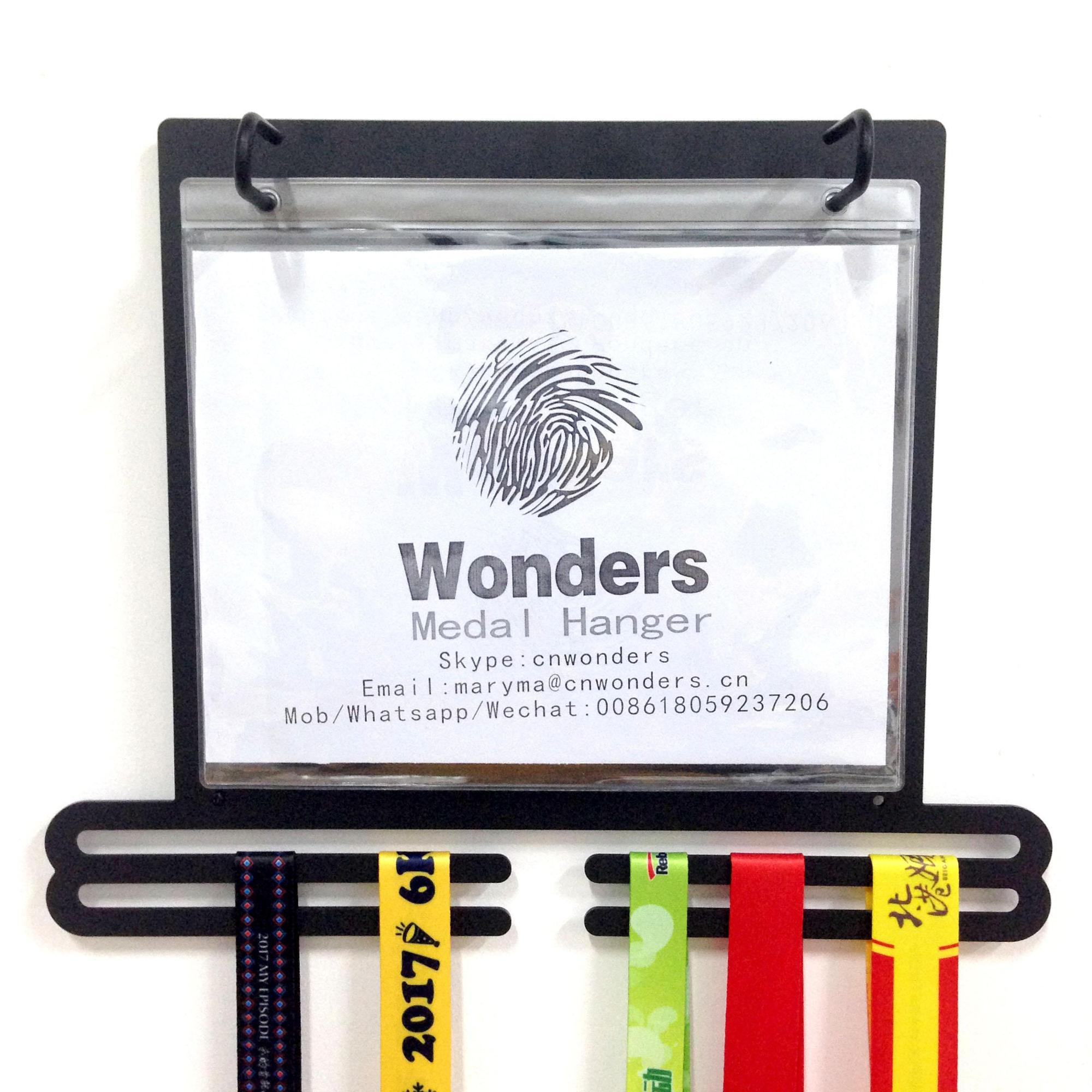 Sport Medal Hanger Display For Runners With Bib Holder And Picture ...